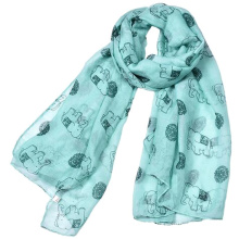 new arrival sale long printed scarf muslim woman new style hijab dubai printed Elephant scarf